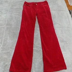 Pants - Red corduroy bootcut pants